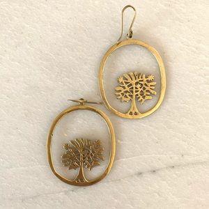 Gold Tree earrings